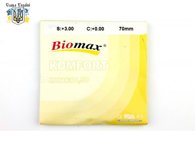 Полимерная линза Biomax антифара с антибликовым покрытием