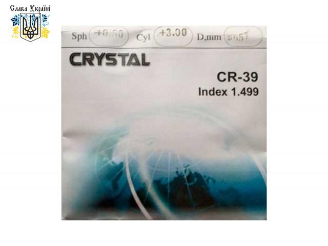 Линзы для очков для оптической коррекции астигматизма CR-39 Crystal