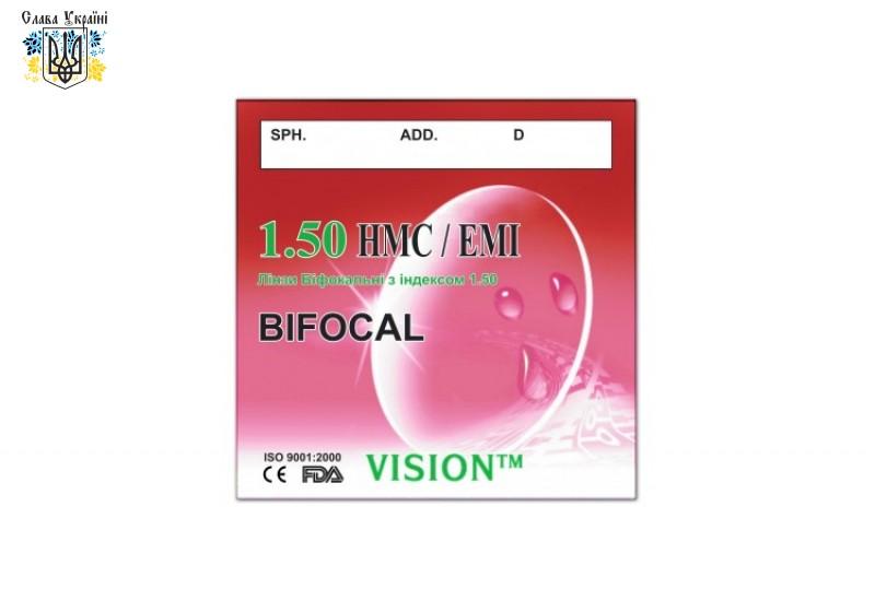 Полимерные линзы бифокальные Vision HMC/EMI с индексом 1.50
