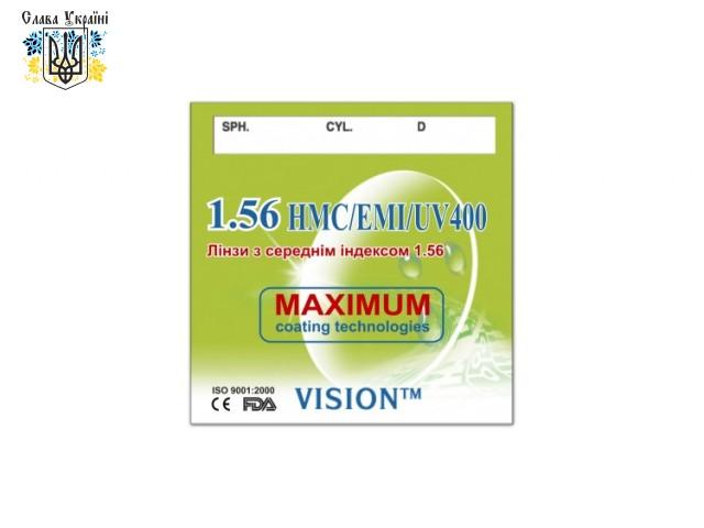 Линзы полимерные Vision СR-39 HMC/EMI/UV400 с индексом 1.56