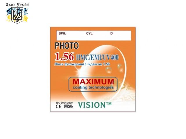 Линзы полимерные  фотохромные Vision HMC/EMI/UV400/Photo с индексом 1.56