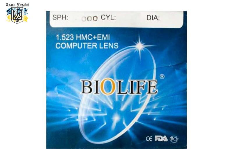 Офисные линзы для компьютерных очков BioLife с покрытием EMI